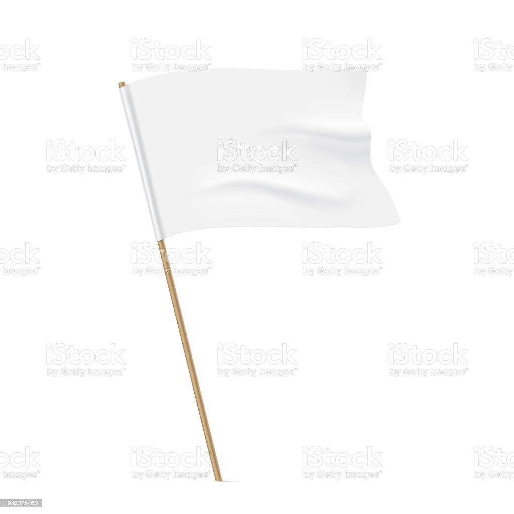 Waving white flag template.