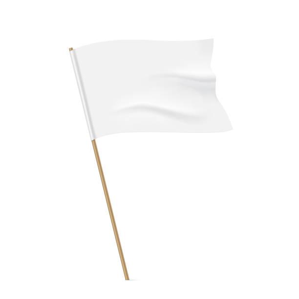 weiße fahne vorlage winken. - feststecken stock-grafiken, -clipart, -cartoons und -symbole