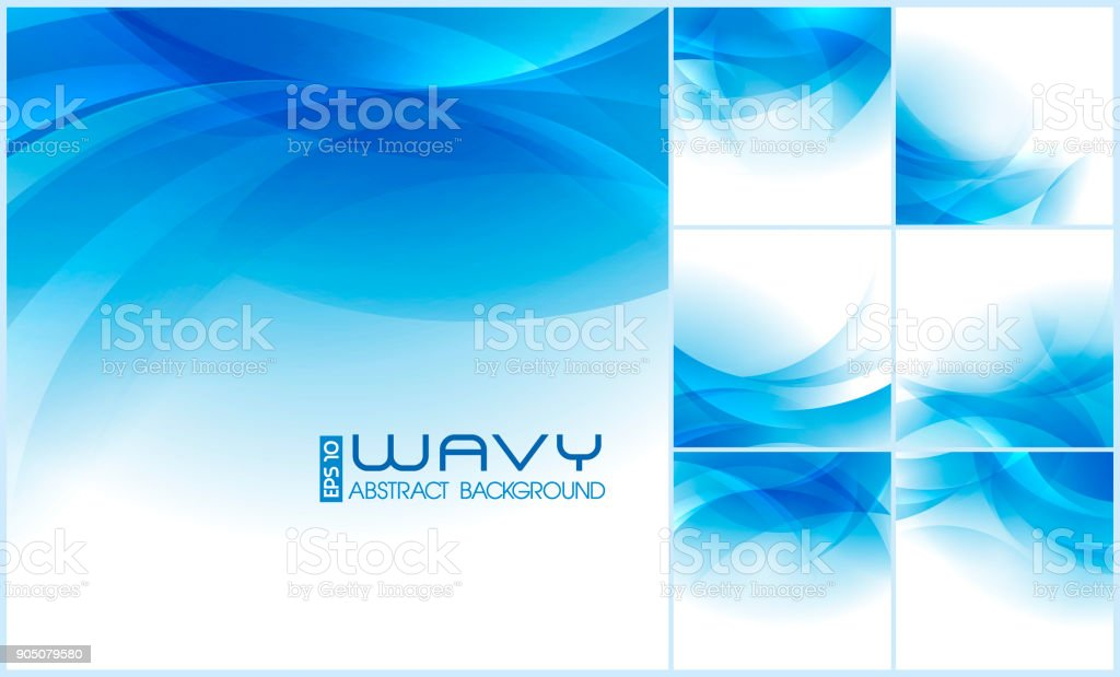 Wavy Abstract Background vector art illustration
