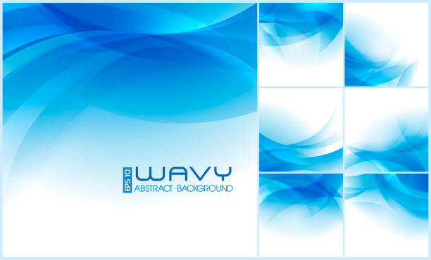 Wavy Abstract Background Modern wavy abstract background collection. Suitable for your website background or design element backgrounds clipart stock illustrations