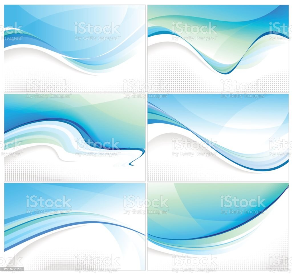 wavy abstract backgrounds vector art illustration