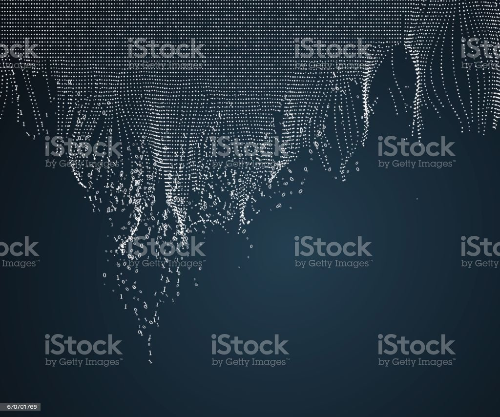 Wavy abstract graphic design, a sense of science and technology background. vector art illustration