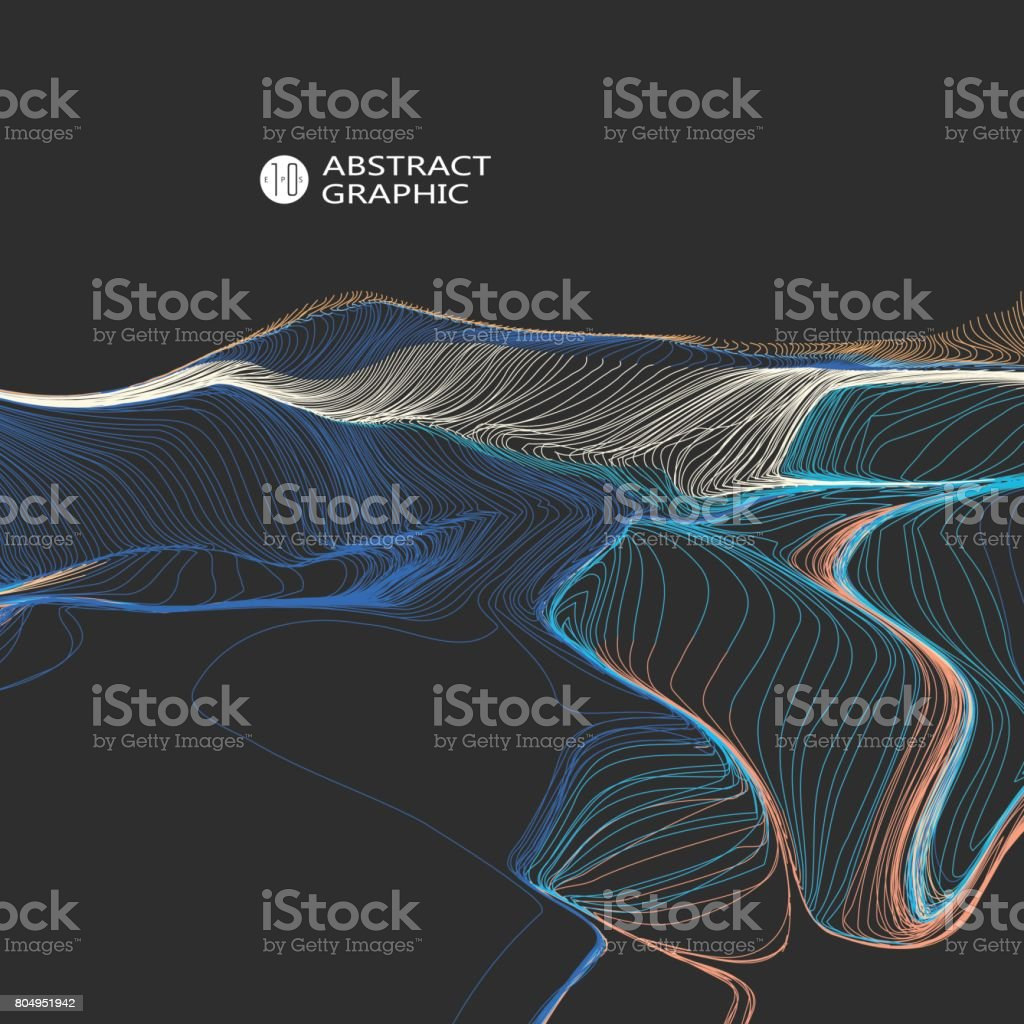Wavy abstract graphic design, vector background. royalty-free wavy abstract graphic design vector background stock illustration - download image now