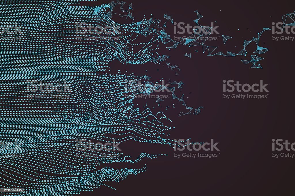 Wavy abstract graphic design. vector art illustration