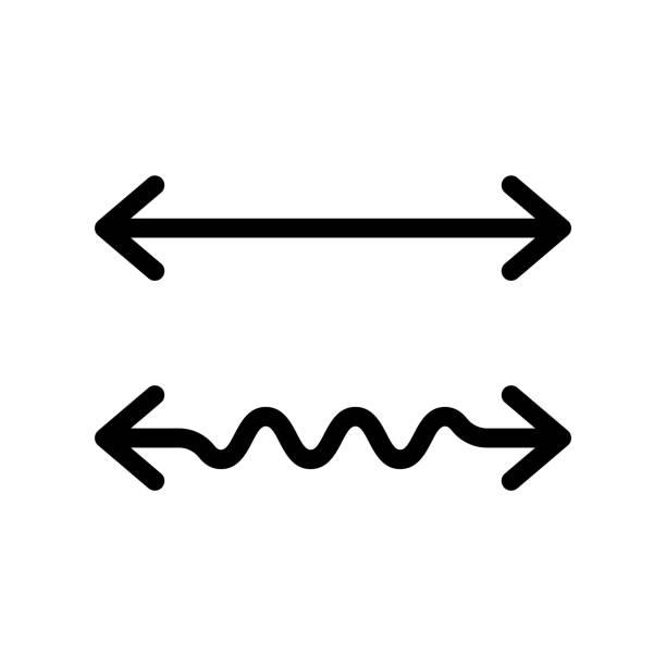 wellvy und geradedoppelpfeil - flat icons stock-grafiken, -clipart, -cartoons und -symbole