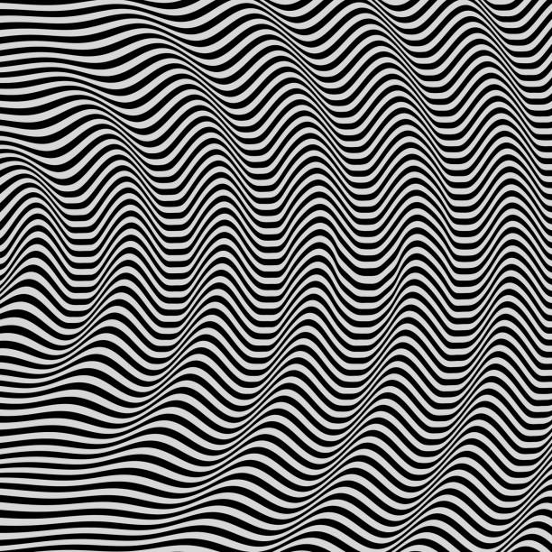 3D wavy background. Dynamic effect. Black and white design. Pattern with optical illusion. Vector illustration. 3D wavy background. Dynamic effect. Black and white design. Pattern with optical illusion. Vector illustration. shaking stock illustrations