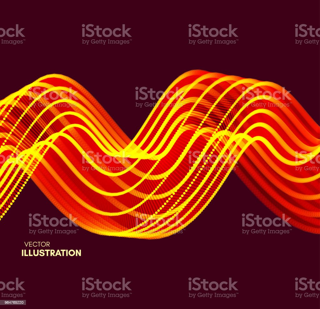 Wavy background with motion effect. 3d technology style. Vector illustration. royalty-free wavy background with motion effect 3d technology style vector illustration stock vector art & more images of abstract