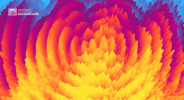 wellig 3d-hintergrund mit domino-effekt. abstraktes vektor-illustration. design-vorlage. moderne muster. - schütteln stock-grafiken, -clipart, -cartoons und -symbole