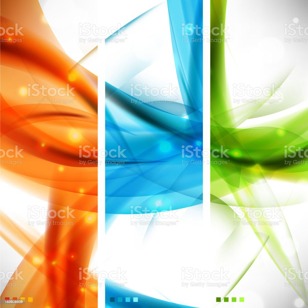 Wavy banners royalty-free stock vector art