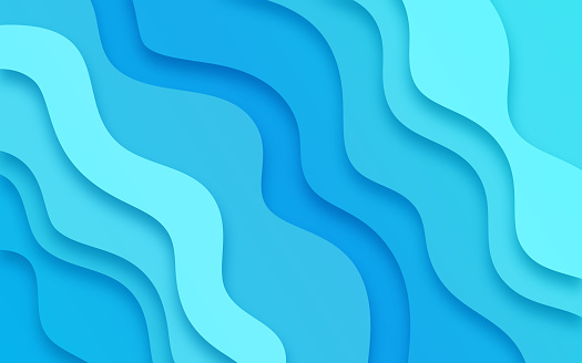 Wavy abstract blue lines glow splash abstract.