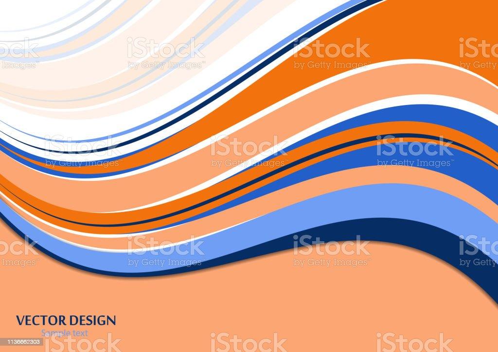 波状のカラーストライプライントレンディな彩度の色明るい抽象パターン