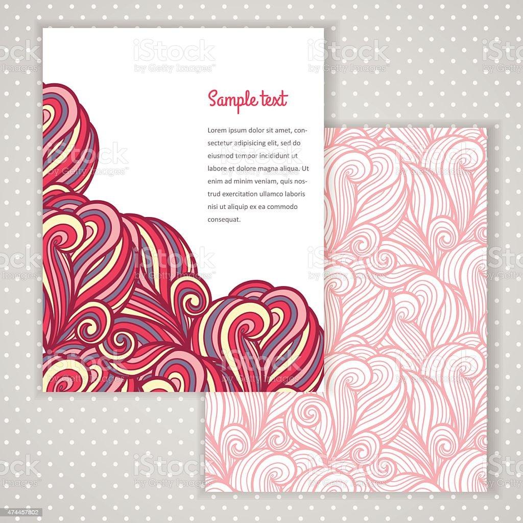 Wavy design template vector art illustration
