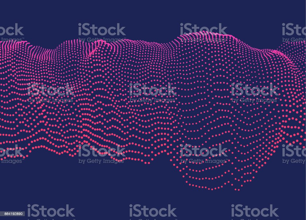 Wavy dotted cascade royalty-free wavy dotted cascade stock vector art & more images of abstract