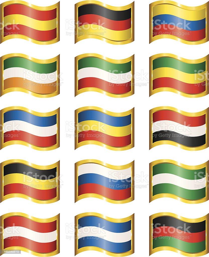 Wavy Flags royalty-free stock vector art