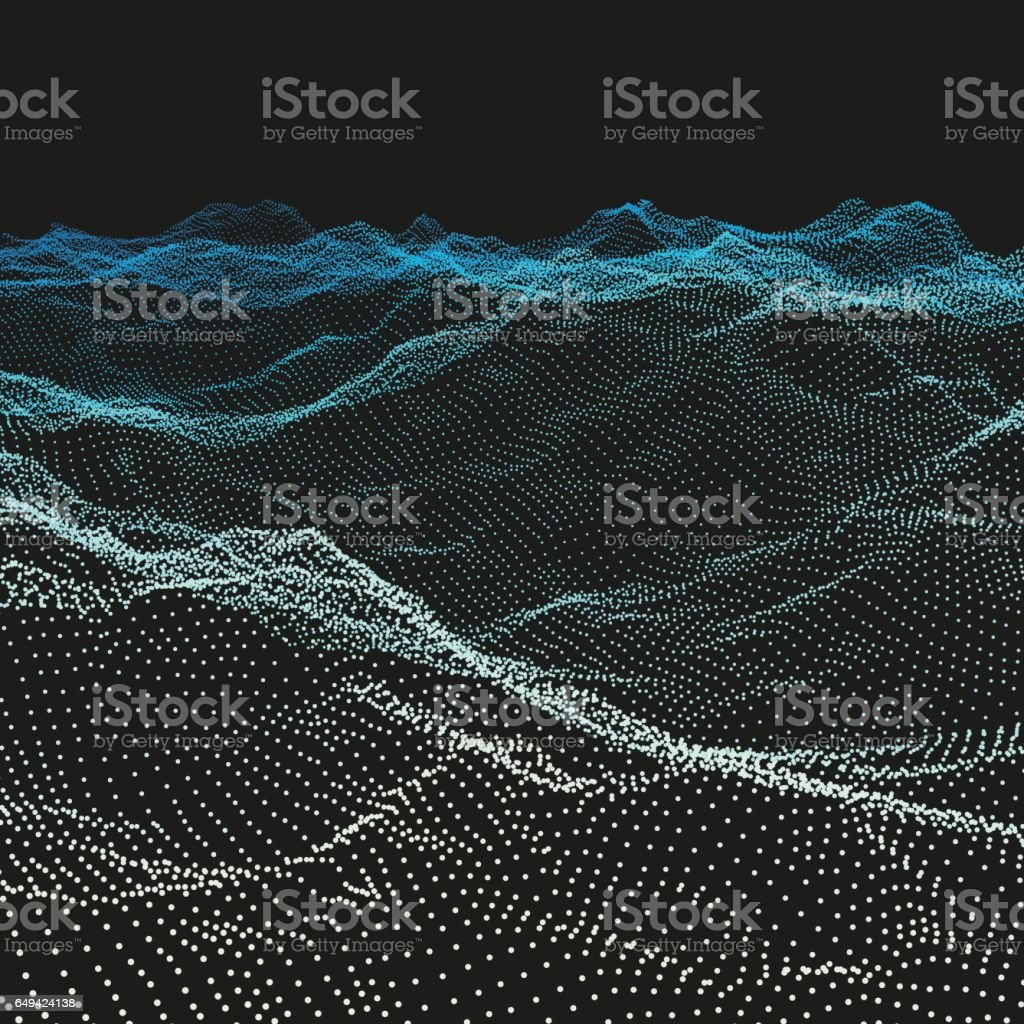 Wavy Grid Background. Ripple Grid. Abstract Vector Illustration. vector art illustration