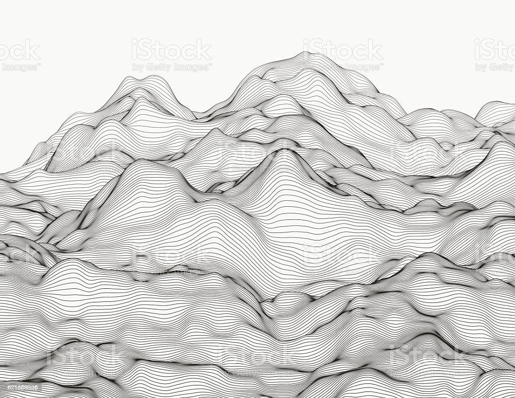 Wavy linear landscape wavy linear landscape – cliparts vectoriels et plus d'images de forme libre de droits