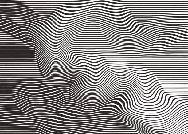 wellig, wellige halbton muster abstrakten hintergrund - morphing stock-grafiken, -clipart, -cartoons und -symbole