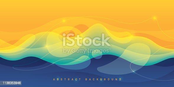Wavy style abstract wallpaper design. Vector illustration.