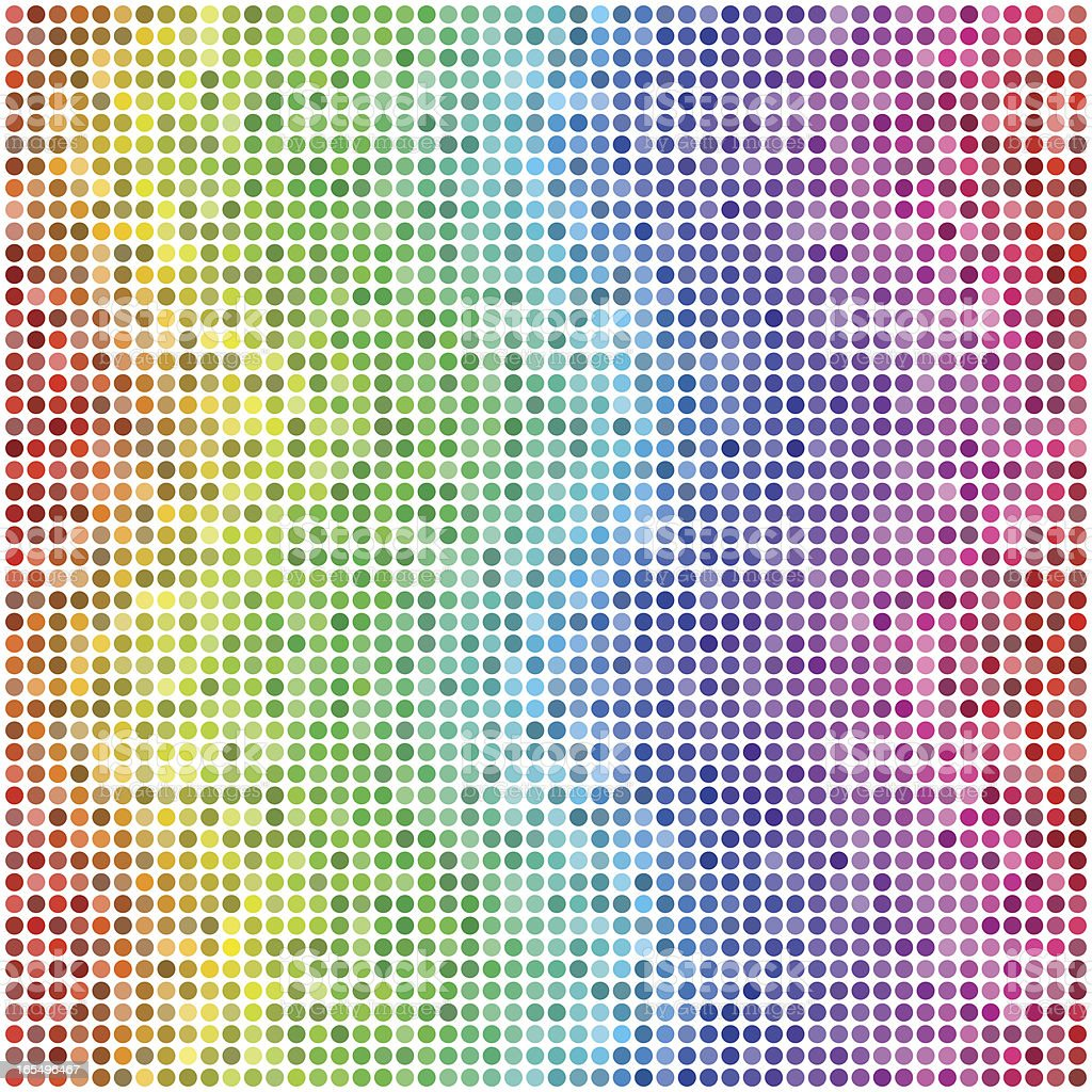 Wavy Waves: Retro Vector Dots #2 vector art illustration