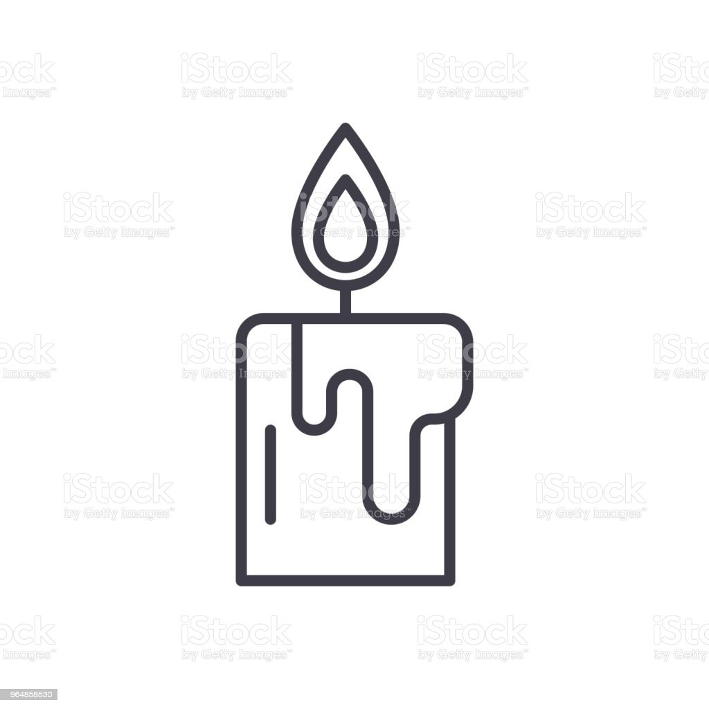 Wax candle black icon concept. Wax candle flat  vector symbol, sign, illustration. royalty-free wax candle black icon concept wax candle flat vector symbol sign illustration stock vector art & more images of art