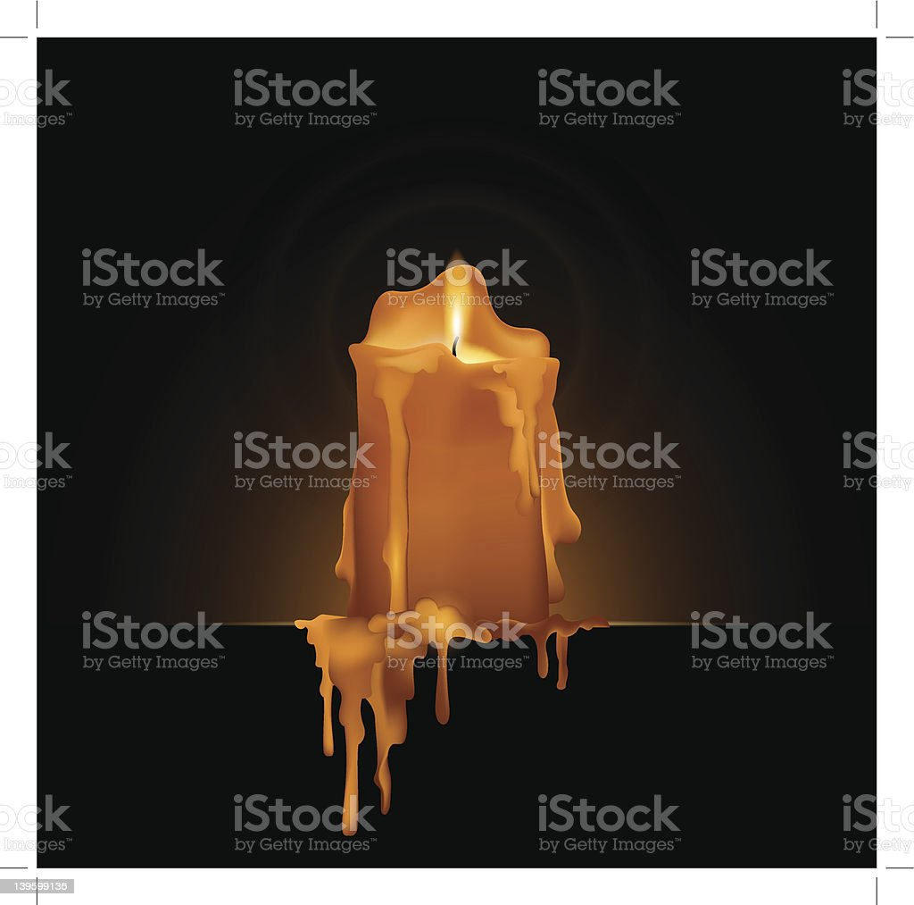 wax candle vector art illustration