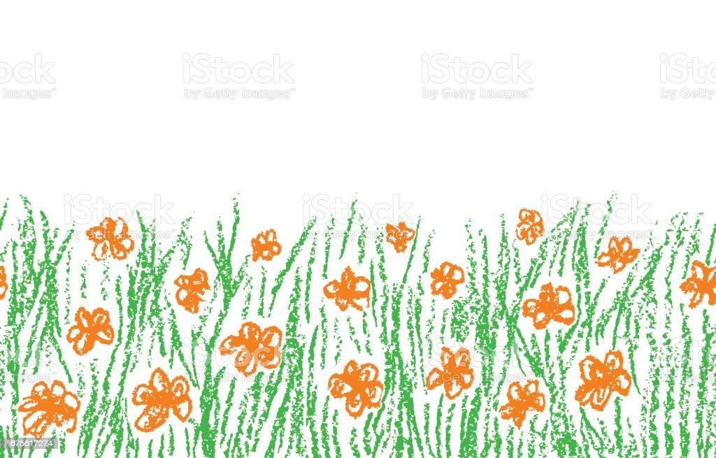 Portakal Cicegi Beyaz Izole Yesil Cim Ile Balmumu Mum Boya El