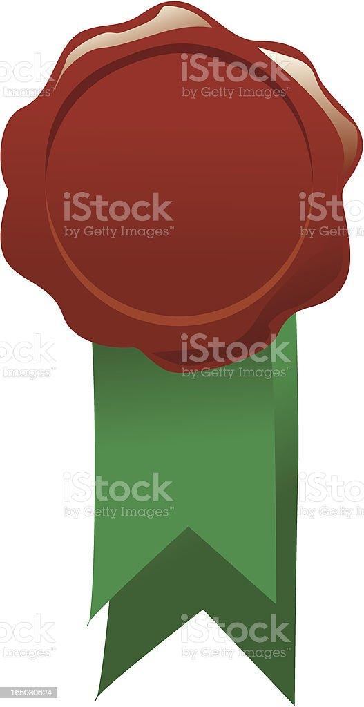 wax seal with ribbon royalty-free stock vector art