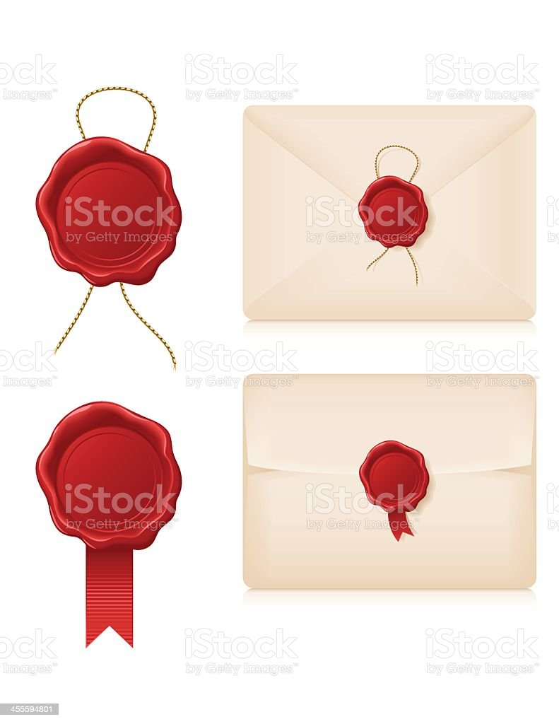 Wax Seals and Envelopes royalty-free wax seals and envelopes stock vector art & more images of antique