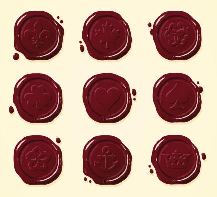 Wax Seals of Various Designs