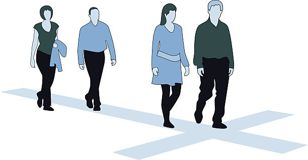 Way of the Cross (Christianity) vector art illustration
