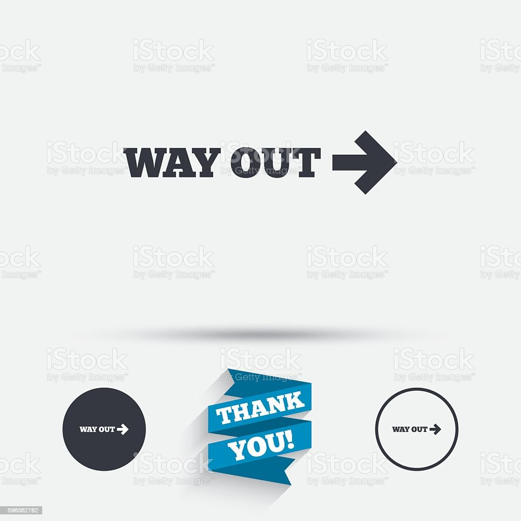 Way out right sign icon. Arrow symbol. royalty-free way out right sign icon arrow symbol stock vector art & more images of badge