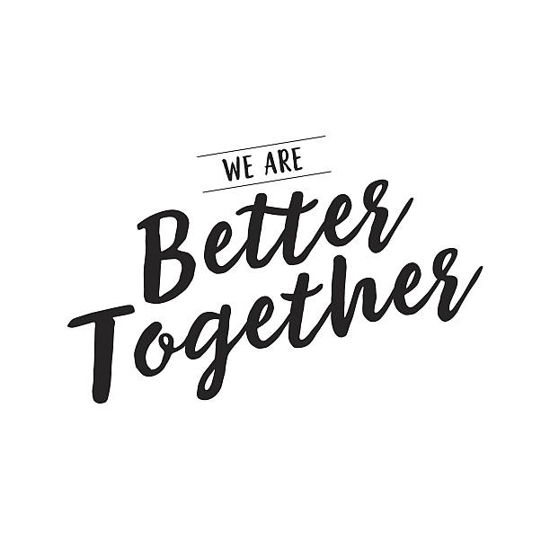 We are better together creative lettering vector art illustration