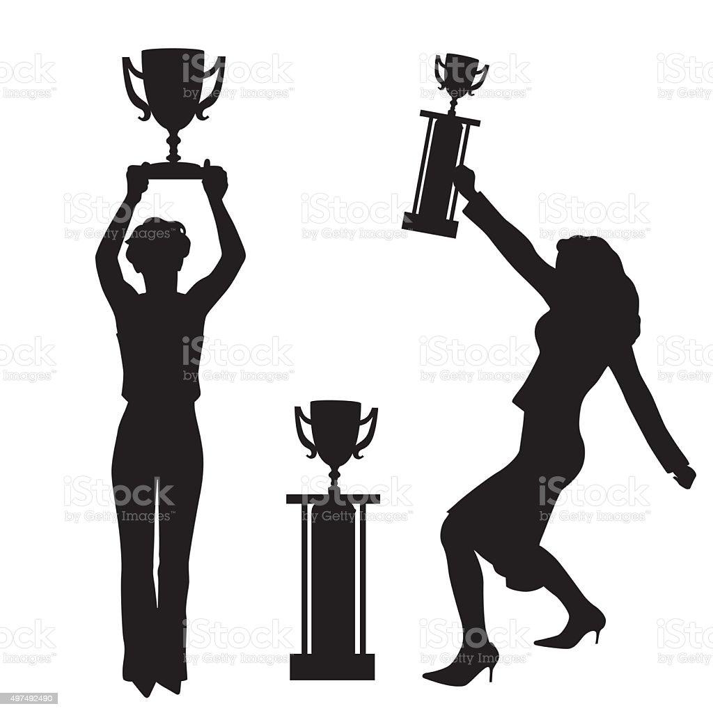 We Are Champions vector art illustration