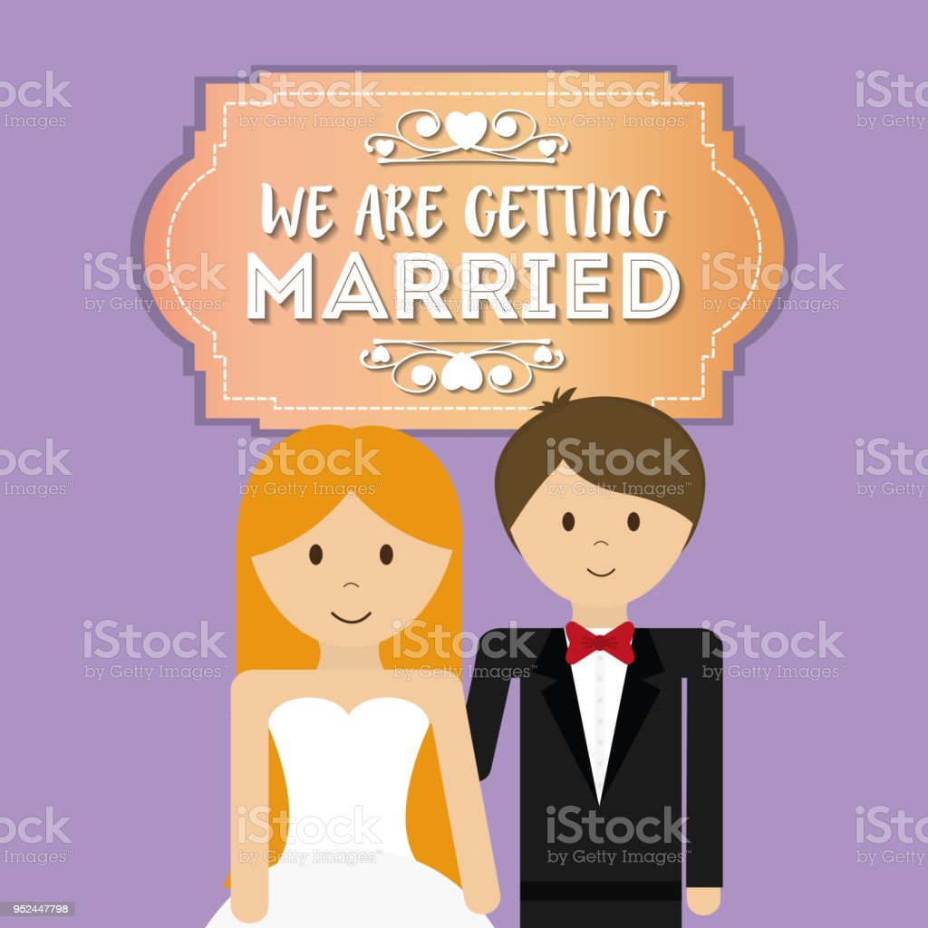 かわいい夫婦を挨拶 いたずら書きのベクターアート素材や画像を多数ご