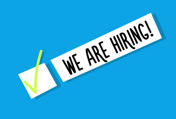 We are hiring background message. Employment recruitment. Job opportunity. Vector illustration vector eps10 help wanted sign stock illustrations