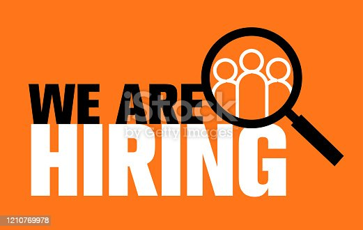 we are hiring, choosing the talented person for hiring, vector illustration, we are hiring, choosing the talented person for hiring, vector illustration