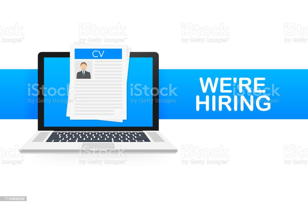 We are hiring. Recruitment concept. Hire workers, choice employers...