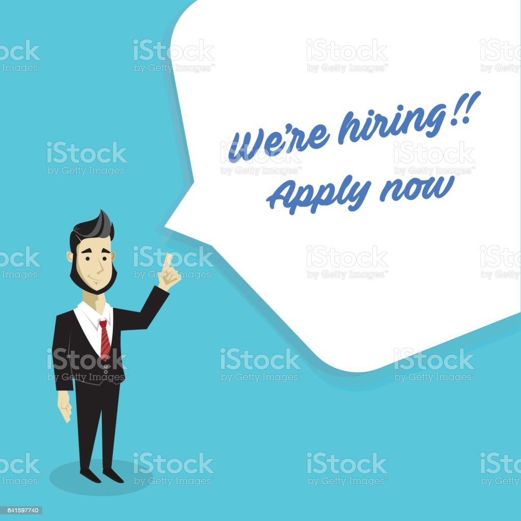 We are hiring vector art illustration
