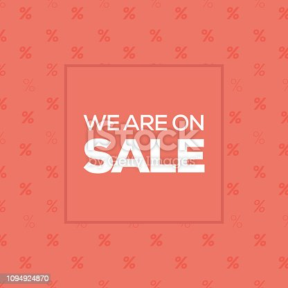 We Are on Sale Banner Design