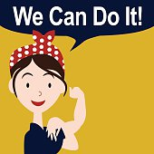 We can do it cartoon poster EPS 10 vector