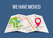 istock We have moved new office icon location. Address move change location announcement business home map 1191743323
