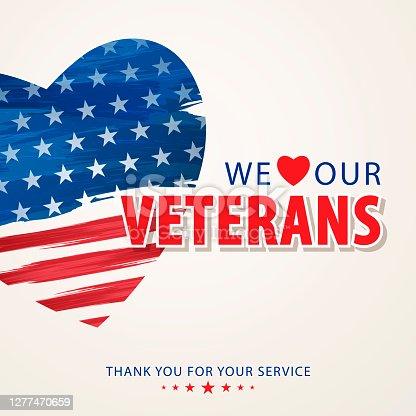 istock We Love Our Veterans 1277470659