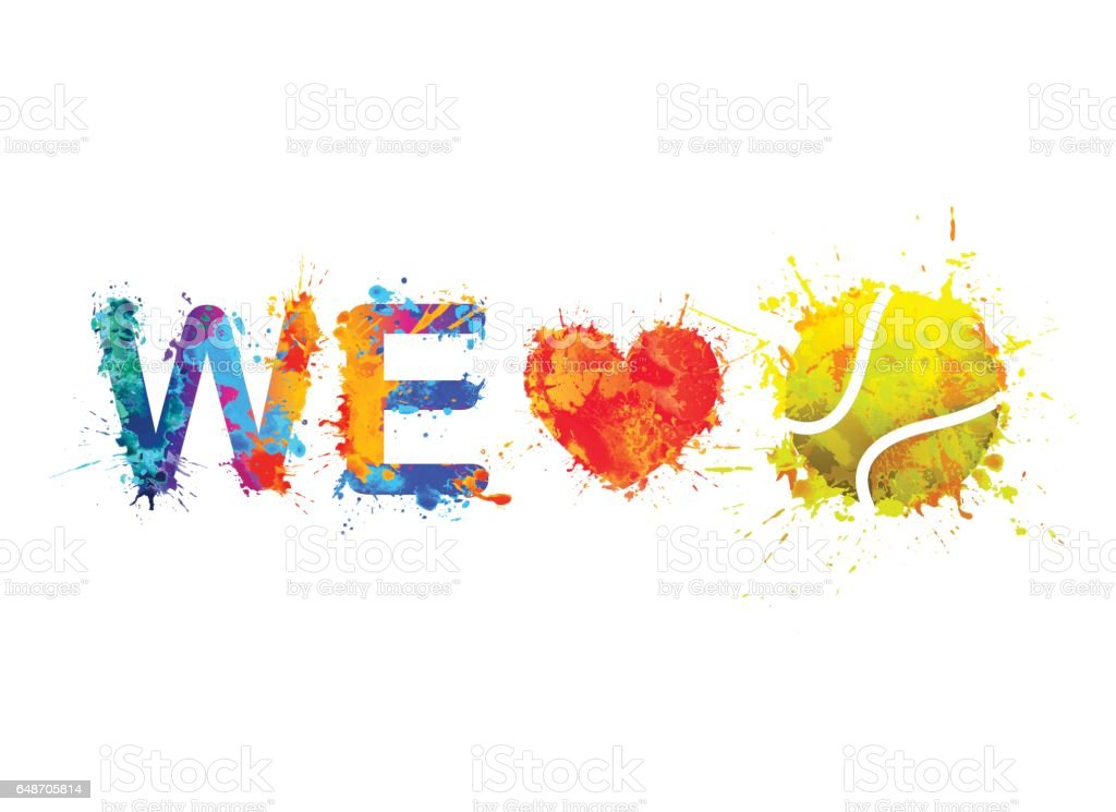 We love tennis vector stock vector art more images of for We love design
