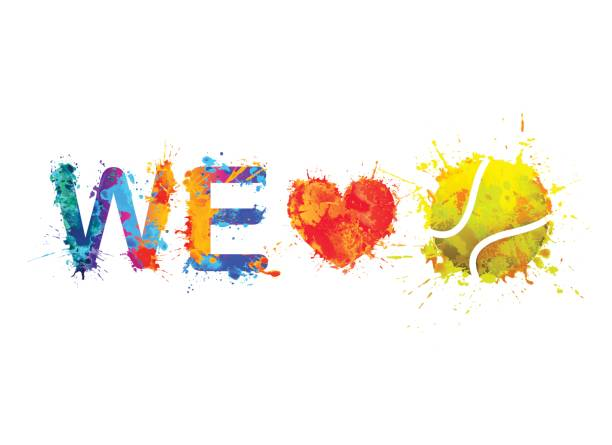 we love tennis. vector - tennis stock illustrations, clip art, cartoons, & icons