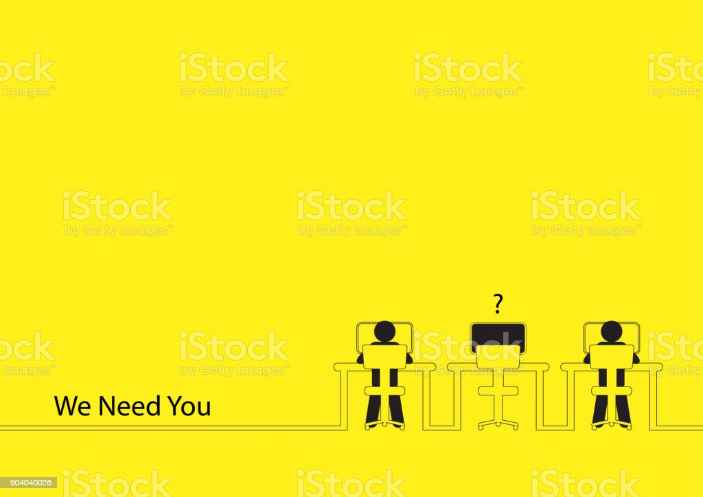 We Need You vector art illustration