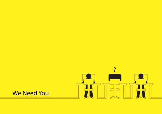 We Need You vector art illustration
