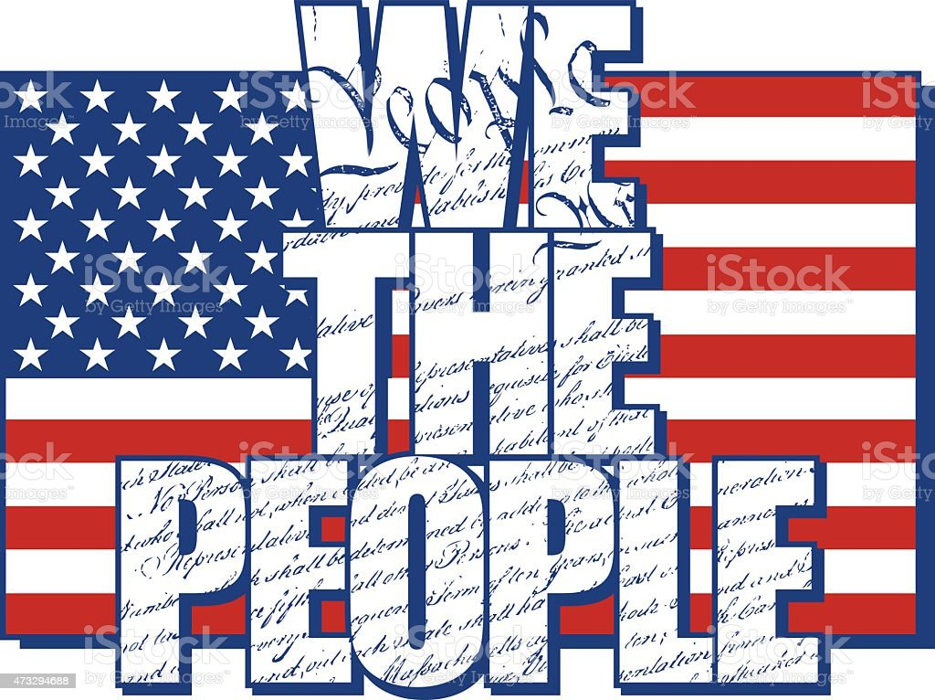 We The People vector art illustration