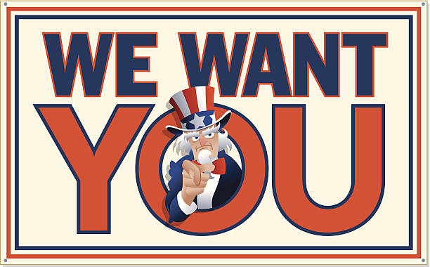 We Want You Heading C We Want You Heading C uncle sam stock illustrations