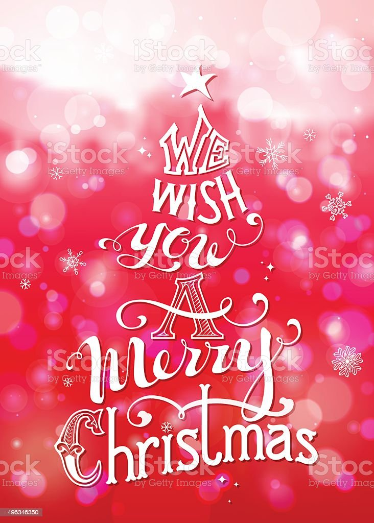 Wir Wünschen Ihnen Frohe Weihnachten Stock Vektor Art und mehr ...