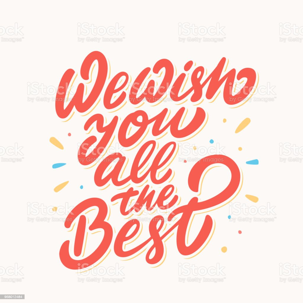 We Wish You All The Best Farewell Card Stock Illustration